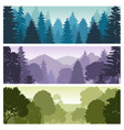 silhouette forest panorama skyline with pine trees vector image vector image