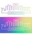singapore skyline colorful linear style vector image vector image