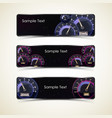 speedometer interface banner set vector image