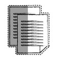 sticker monochrome blurred of document file vector image vector image