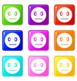 suspicious emoticons 9 set vector image vector image