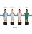Table football soccer players Group F vector image