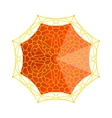 Umbrella top view vector image