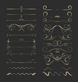 vintage calligraphic design page dividers vector image vector image