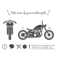 Vintage motorcycle infographic old-school bike vector image