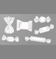 white candy wrappers set blank sweets package vector image