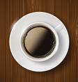 white cup with coffee vector image vector image