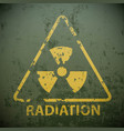 yellow warning sign for radioactivity vector image