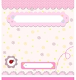 Baby card with ladybird vector image