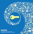 key sign symbol Nice set of beautiful icons vector image