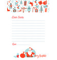 a4 christmas letter to santa claus template vector image vector image