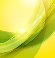 Abstract green and yellow background Summer vector image