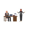 arabic business man listen to candidate woman vector image
