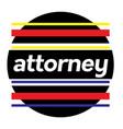 attorney stamp on white