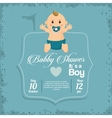 Baby boy of baby shower card design vector image vector image