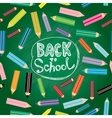 Back to school Flat design modern with colored vector image