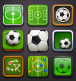 background for app icons-soccer part vector image vector image