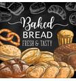 bread cake cupcake pretzel toast and challah vector image vector image