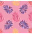 bright tropical palm leaves seamless pattern vector image vector image
