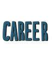 career lettering text vector image vector image