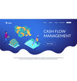 cash flow statement isometric 3d landing page vector image vector image