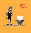 Cat Business cartoon vector image vector image