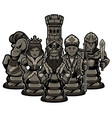 chess team black vector image vector image