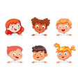 children holding blank poster vector image vector image