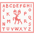 Christmas Knitted Font with Deer