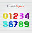 colorful number figures set vector image vector image