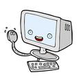 comic cartoon computer vector image vector image