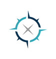 compass rose logo template vector image