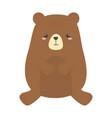 cute little teddy bear animal cartoon isolated vector image