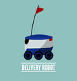 delivery robot icon flat design vector image