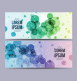 design template with circles style use for vector image vector image