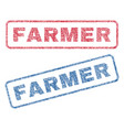 farmer textile stamps vector image vector image