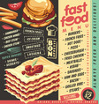 fast food restaurant menu design vector image