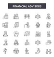 financial advisors line icons signs set vector image vector image