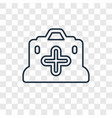 first aid kit concept linear icon isolated on vector image vector image
