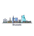 flat line brussels banner vector image vector image