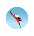 flying Superhero Santa Claus action vector image vector image