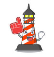 foam finger classic cartoon lighthouse of red vector image