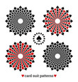 gambling card suit poker four patterns vector image vector image