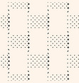 geometric pattern with squares rhombuses dots vector image