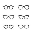 glasses symbol icon design vector image vector image