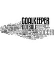 goalkeeper word cloud concept vector image vector image