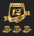 Golden anniversary badge labels