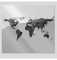 Gray Political World Map vector image vector image