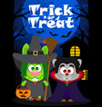 halloween background trick or treating animal vector image vector image