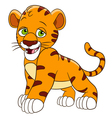 happy cartoon tiger vector image vector image